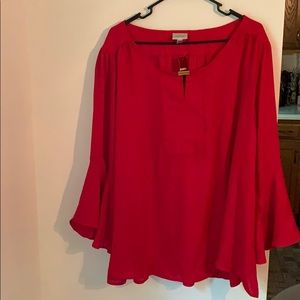 Red Blouse NWT